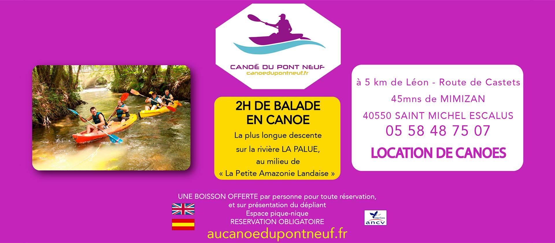 Canoë du Pont Neuf : Kayak dans les Landes